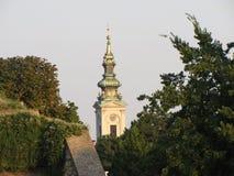 rue de Michael d'église de cathédrale de Belgrade d'archange Image stock
