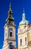 rue de Michael d'église de cathédrale de Belgrade d'archange Photos libres de droits