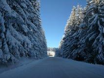 Rue de neige Photos libres de droits