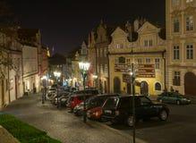 Rue de Nerudova à Prague République Tchèque Photo libre de droits