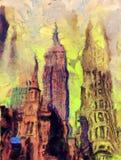 Rue de New York illustration libre de droits