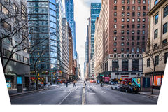 Rue de New York City Image stock