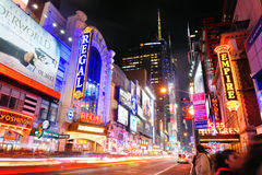 Rue de New York City Manhattan quarante-deuxième Image stock
