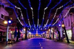 Rue de Noël Photos stock