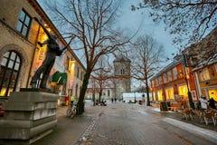 Rue de Nordre à Trondheim, Norvège images stock