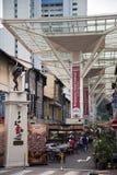 Rue de nourriture, Chinatown, Singapour Images stock