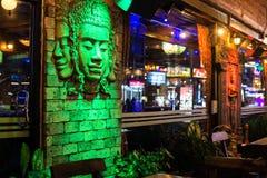 Rue de nuit de Patong à phuket, Thaïlande 2017 Photo libre de droits