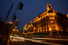 Rue de nuit en Chine Bund Photo libre de droits