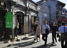 Rue de Pékin Shichahai, course de Pékin Photo stock