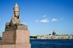 rue de Pétersbourg de borne limite Photo libre de droits