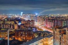 rue de Pétersbourg de nuit image libre de droits