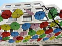 Rue de parapluie, Jérusalem Photos libres de droits