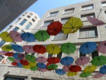 Rue de parapluie, Jérusalem Image stock