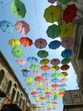Rue de parapluie, Jérusalem Images libres de droits