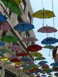 Rue de parapluie, Jérusalem photographie stock