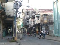 rue de pauvres de deux points Images stock