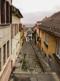 Rue de pavé rond Photographie stock
