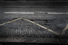 Rue de pavé rond Image stock