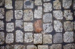 Rue de pavé rond d'en haut Images libres de droits