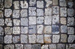 Rue de pavé rond d'en haut Photographie stock