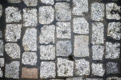 Rue de pavé rond d'en haut Photos libres de droits