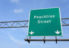 Rue de Peachtree Photo stock