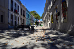 Rue de peatonal de Montevideo Photo stock