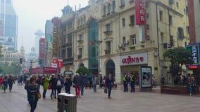 Rue de piéton de Changhaï Photographie stock libre de droits