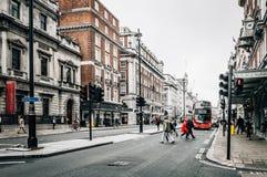 Rue de Picadilly à Londres Image libre de droits
