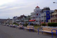 Rue de plage, Cape May NJ, Etats-Unis image stock