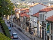 Rue de Pombal - Santiago de Compostela images stock