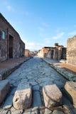 Rue de Pompeii, Italie. image libre de droits