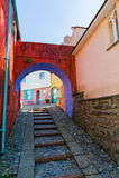Rue de Portmeirion, Pays de Galles du nord Image libre de droits