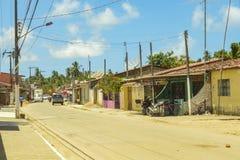 Rue de Porto DA Rua, DOS Milagres, Alagoas de São Miguel image stock