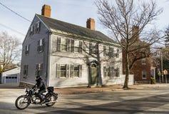 Rue de Portsmouth dans New Hampshire Image libre de droits