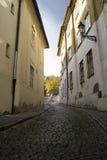 Rue de Prague, République Tchèque Photo stock