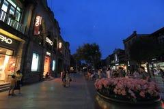 Rue de Qianmen Images libres de droits