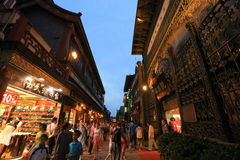 Rue de Qianmen Photo libre de droits