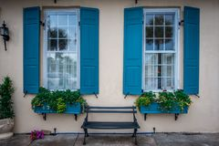 Rue de rangée d'arc-en-ciel dans le paysage et le hist de Charleston la Caroline du Sud photographie stock