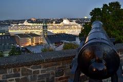 Rue de Remparts - Κεμπέκ - Καναδάς - ιστορική οχύρωση cann Στοκ φωτογραφίες με δικαίωμα ελεύθερης χρήσης