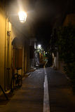 Rue de Rethymno le soir ! image libre de droits