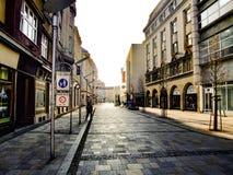 Rue de Rijna à Ostrava dans Czechia Photos stock