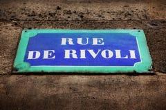 Rue de Rivoli fotografering för bildbyråer