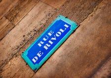Rue de Rivoli Foto de Stock