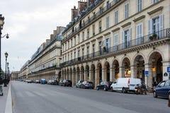 Rue de Rivoli Royaltyfri Bild