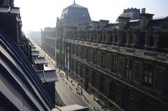 Rue de Rivoli en París, Francia Imagen de archivo libre de regalías