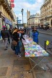 Rue de Rivoli i Paris, Frankrike Fotografering för Bildbyråer