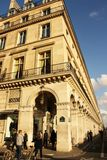 Rue de Rivoli in Parijs (Frankrijk) Royalty-vrije Stock Fotografie