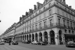 Rue de Rivoli Royalty Free Stock Photography
