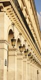 Rue de Rivoli in Paris (France) Royalty Free Stock Photography